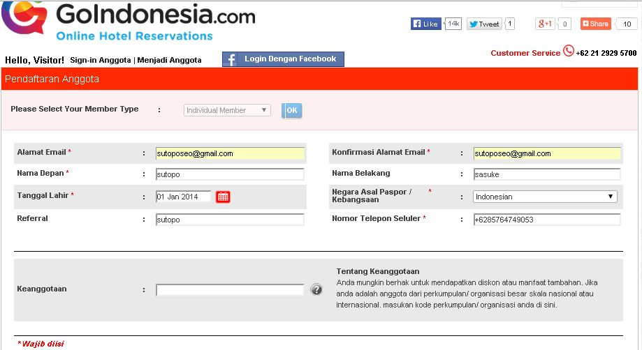 Hotel murah di Jakarta Hotel murah di Jakarta lengkap 2014