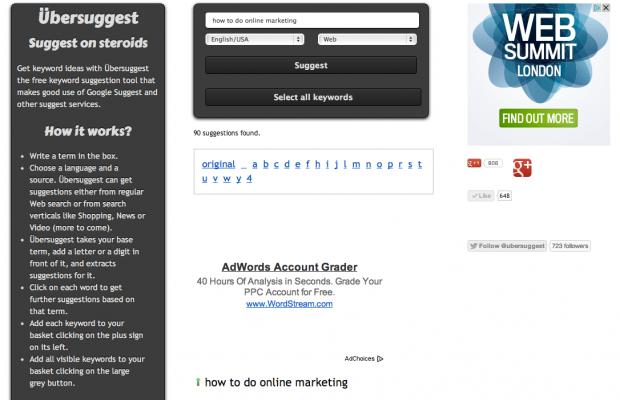 ubersuggest Bagaimana Melakukan  SEO pada website/ blog lengkap