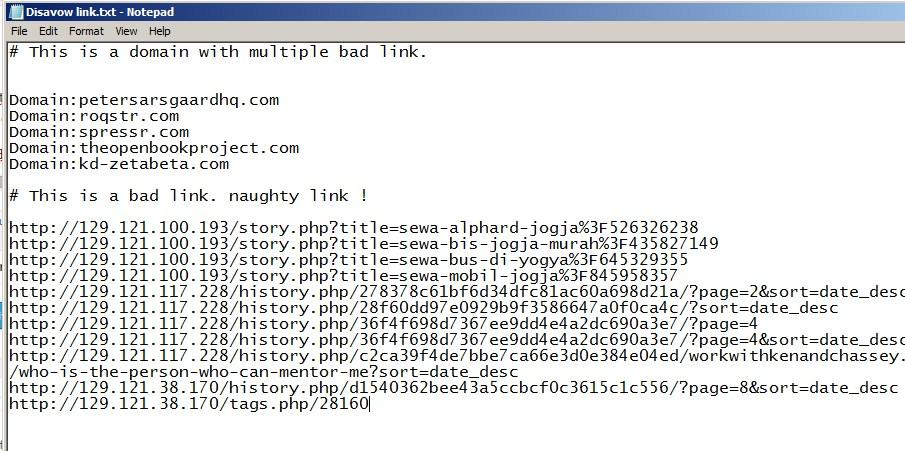 Backlink tidak berkualitas webmaster