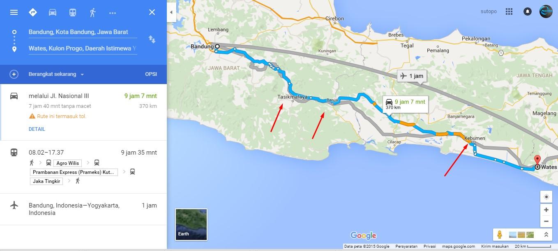 Perjalanan Bandung Jogja