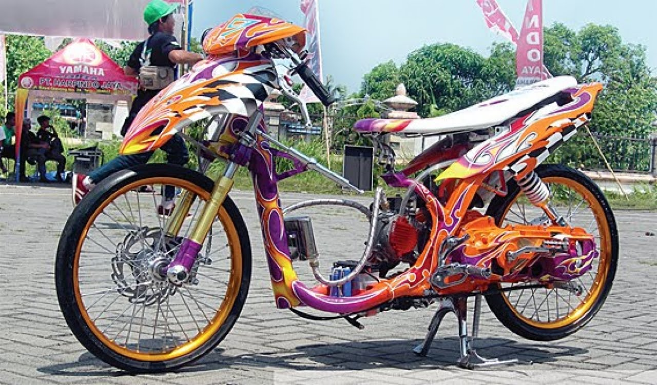 modifikasi mio drag look terkeren