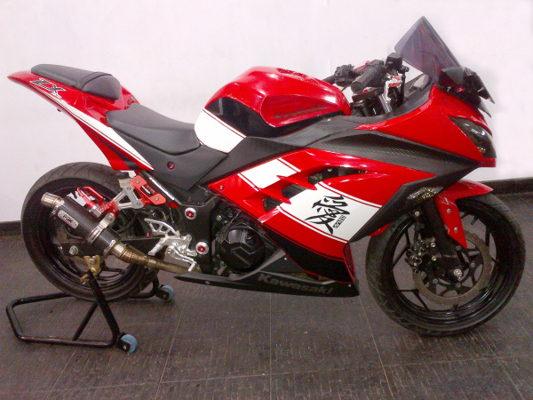 modifikasi-ninja-250R-fi-merah