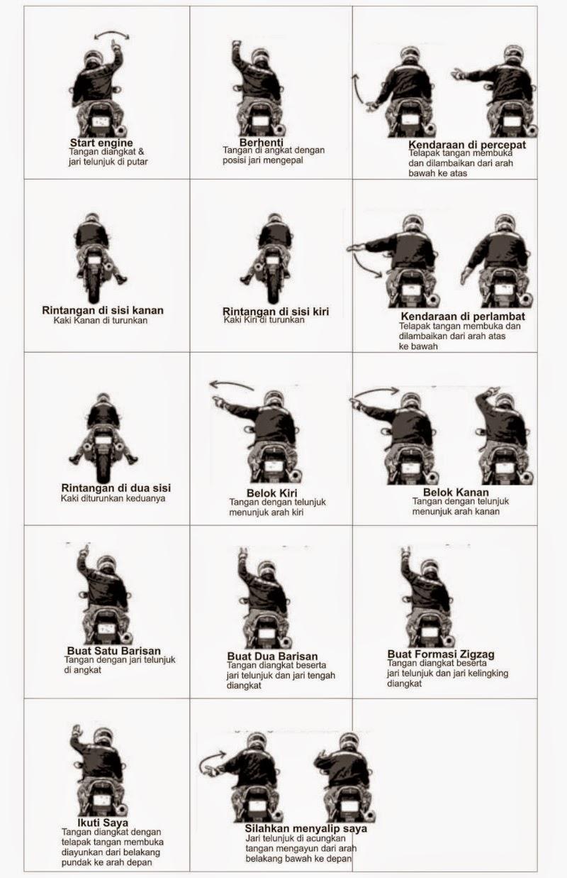 Mengenal Bahasa Isyarat Touring Motor