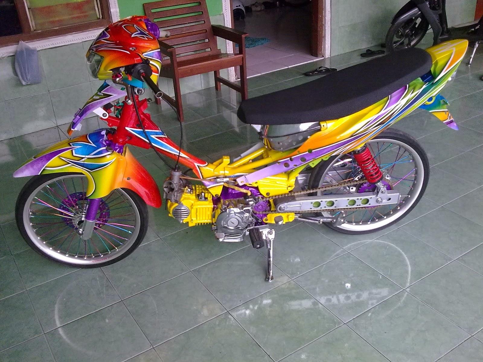 Modifikasi mio racing look drag bike terbaru keren for Yamaha drag bike